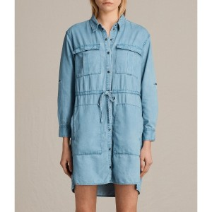 MILLIE SHIRT DRESS (Indigo Blue)