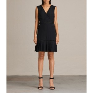 KEENA PLEAT DRESS (Black)