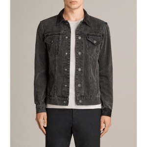 BATON DENIM JACKET (Black)