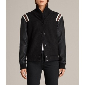 BORDIN STRIPED JACKET (Black/Bordeaux)