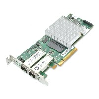 hp NC523SFP ロープロファイル 10Gb 2P Server Adapter (Qlogic QLE3242-HP) 2ポート10GbE SFP+ 593715-001 【中古】...