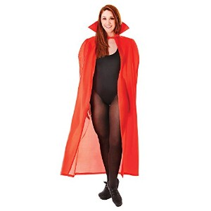 "Bristol Novelty 56"" Nylon Dracula Cape Red Adult Fancy Dress Costume Mens 56"""