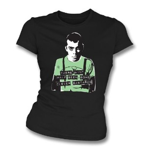 Too Drunk To Duck Women's ぴったり合う Tシャツ (Dead Kennedys)