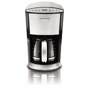 KRUPS KM720D50 Programmable Coffee Maker with Stainless Steel Housing, 12-Cup, Silver by KRUPS