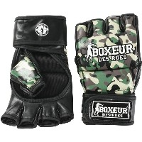 メンズ BOXEUR DES RUES GUANTO MMA CAMOUFLAGE IN SYNTHETIC LEATHER フィットネス ミリタリーグリーン