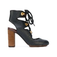 See By Chloé - レースアップサンダル - women - レザー/rubber - 38
