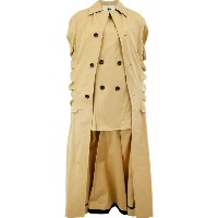 Aganovich - distorted long sleeved coat - women - コットン - 36