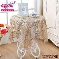 Xin ya pastoral continental nail lace openwork fabric table cloth towel beautiful simplicity embroid