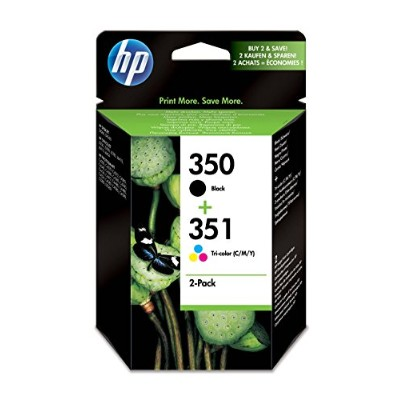 HP Original 350/351 Combo-Pack Inkjet Print Cartridges (Black/Tri-colour)