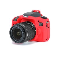 DISCOVERED イージーカバー Canon EOS 8000D 用 カメラカバー レッド 液晶保護フィルム付