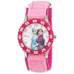 ディズニー Disney Kids' W000969 Frozen Anna Snow Queen Time Teacher Stainless Steel Watch with Pink...