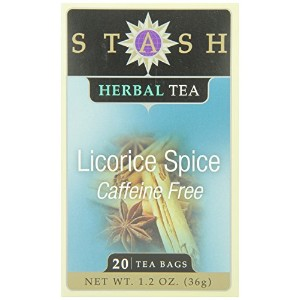 Stash Tea Liquorice Spice Herbal 20 Count Box (Pack of 6)