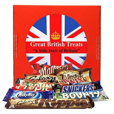英国 マースチョコレート 12種 ギフトボックス British Foods Worldwide Mars Gift Box | 12 British Chocolate Bars (Mars...