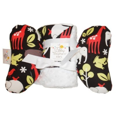Baby Elephant Ears Head Support Pillow & Matching Blanket Gift Set (Zoology) by Baby Elephant Ears