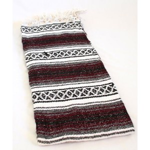 Brown SYFT Quality Hand Woven Classic Mexican Premium Yoga Blanket Large Throw by Sanyork Fair Trade