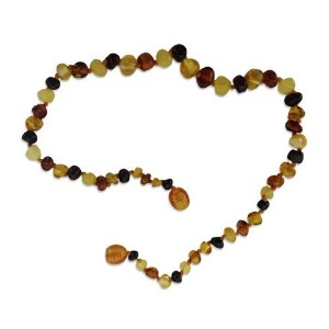 Healing Hazel Raw Baltic Amber Necklace - 10.5 - Multi by Healing Hazel
