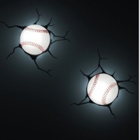 3D Wall Art Kids Nighlight - Baseball by 3D light FX