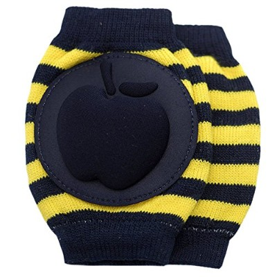 New Baby Crawling Knee Pad Toddler Elbow Pads 8055215 Black-yellow by YEAHINSHOP
