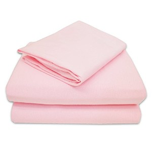 TL Care 100% Jersey Cotton 3-Piece Toddler Sheet Set, Pink by TL Care