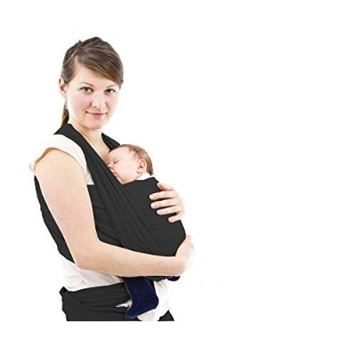 FebOrganics Baby Wrap Carrier, Black by FebOrganics