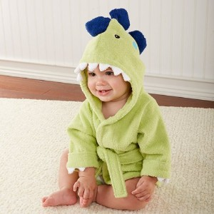 Baby Aspen Hooded Spa Robe, Splash-A-Saurus Dinosaur by Baby Aspen [並行輸入品]