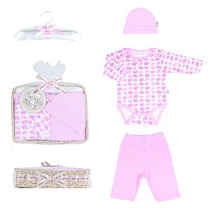 Tadpoles Mod Zoo Layette Gift Set, Elephant/Pink, 0-6 Months by Tadpoles