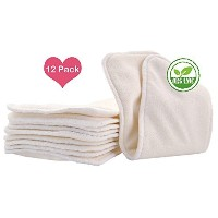 Love My? Baby Cloth Diaper 12pcs 4layers Super Water Absorbent Antibacterial Bamboo Inserts by LOVE...