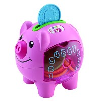 Fisher-Price - Laugh & Learn - Count & Learn Piggy Bank - Tirelire Cochon Version Anglaise