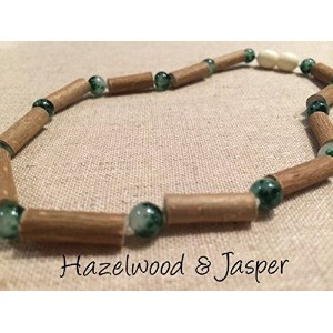 Green Jasper Hazelwood 12.5 to 13 inches Necklace for babies baby infant toddler bub for Gut issues; Eczema, Colic, Reflux, GERD, heartburn, and ulcers. 100% Satisfaction Guaranteed. 33-34 cm 12-13 inches by Baltic Amber
