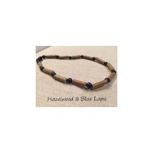 ADHD Blue Lapis Lazuli Hazelwood 12 to 12.5 inches Necklace for babies baby infant toddler bub for...