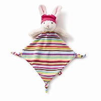 Zutano Plush Blankie, Hip Hoppy Girl by Zutano