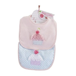 Baby Aspen Baby Cakes 2 Piece Bib Gift Set, Pink by Baby Aspen