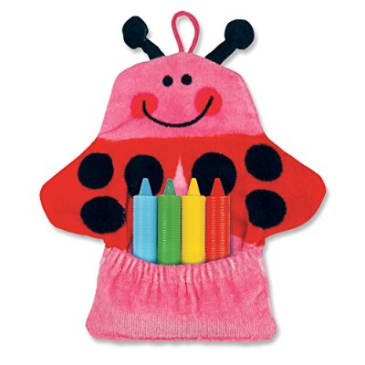 Stephen Joseph Bath Mitt and Crayons Ladybug, Pink by Stephen Joseph
