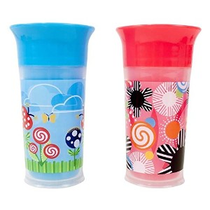 Sassy Insulated Grow Up Cup, Pink/Blue, 9 Ounce by Sassy