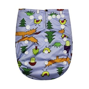 See Diapers Pocket Baby Cloth Diaper 2 Microfiber Inserts Adjustable (Fox) by See Diapers