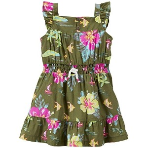 Carter's Floral Dress (Baby)-Olive-9 Months by Carter's