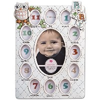 Baby's First Year Collage Picture Frame Holds 13 Photos From Birth - Age 1 by Fashioncraft