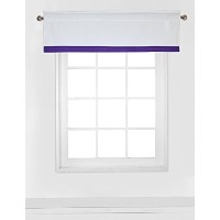 Bacati Mix and Match White Window Valance with Band, Purple by Bacati