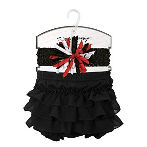 Stephan Baby Little Black Dress Collection Ruffled Diaper Cover and Headband, 6-12 Months by...