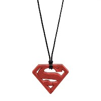 Bumkins Dc Comics Silicone Teething Pendant, Superman Ruby by Bumkins