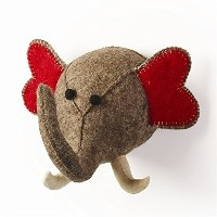 Stuffed Animal Elephant Trophy Head