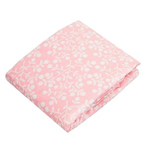 Kushies Baby Portable Play Pen Sheet, Pink Berries by Kushies