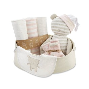 Baby Aspen Beary Special Welcome Set, Pink/White/Beige, 0-6 Months by Baby Aspen