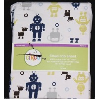 Circo Robots Fitted Crib Sheet toddler bed sheet new by Circo