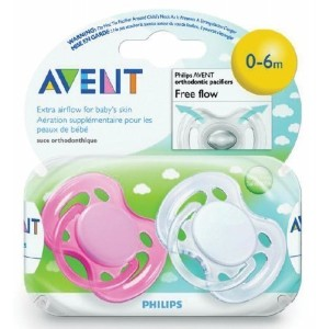 0-6 Months Freeflow Pacifier 2 Count [Set of 4] by Avent America [並行輸入品]