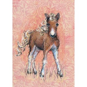 Oopsy Daisy Canvas Wall Art, Florence The Foal, 14' x 18' [並行輸入品]