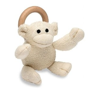 Organic Teething Ring Toy - Monkey by Momma Goose