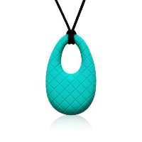 Siliconies Egg Pendant - Silicone Necklace (Teething/Nursing/Sensory) (Peacock - Teal) [並行輸入品]
