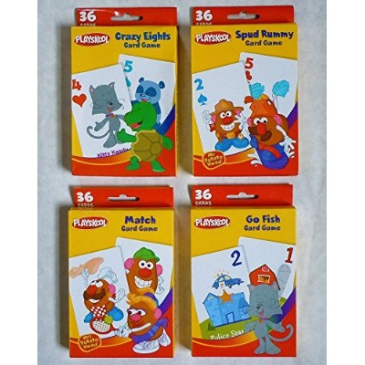 Playskool Card Games 4-Pack (Crazy Eights, Go Fish, Mr. Potato Head Spud Rummy & Mr. Potato Head Match Game) [並行輸入品]