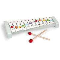 Toy Xylophone- Metal Notes with Wooden Base and Mallets By Janod [並行輸入品]